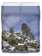 Snow Covered Cliffs And Trees II Duvet Cover