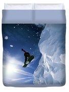 Snowboarding In Lake Tahoe Duvet Cover