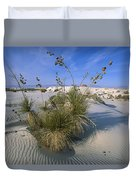 Soaptree Yucca In Gypsum Dunes White Duvet Cover