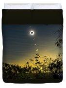Solar Eclipse Composite, Queensland Duvet Cover by Philip Hart