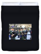 Some Bagpipers Marching In The 2009 New York St. Patrick Day Parade Duvet Cover