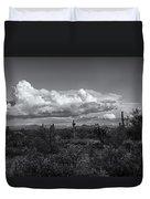 Sonoran Desert In Black And White  Duvet Cover