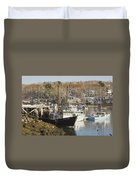 South Bristol And Fishing Boats On The Coast Of Maine Duvet Cover
