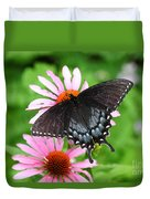 Spicebush Swallowtail Butterfly Duvet Cover