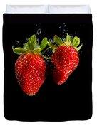 Splash Strawberry Duvet Cover