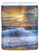 Splash Sunrise Duvet Cover by Debra and Dave Vanderlaan