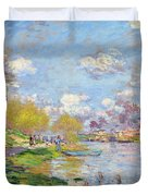Spring By The Seine Duvet Cover