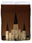 St Louis Cathedral At Night Duvet Cover