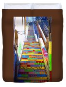 Stairway To Heaven Valparaiso  Chile Duvet Cover
