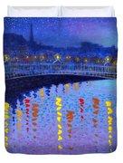 Starry Night In Dublin Duvet Cover