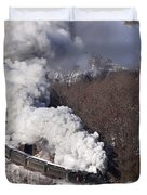 Steam At Scranton Duvet Cover