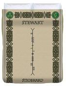 Stewart Written In Ogham Duvet Cover