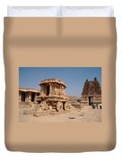 Stone Chariot At Vittala Temple  Duvet Cover