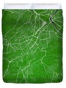 Stuttgart Street Map - Stuttgart Germany Road Map Art On Colored Duvet Cover