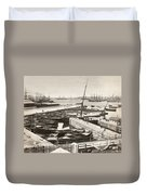 Suez Canal Port Said Duvet Cover