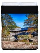 Sunday River Covered Bridge Duvet Cover