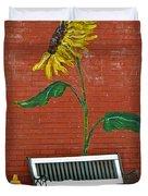 Sunflower And Snow Duvet Cover