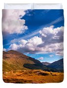 Sunny Day At Rest And Be Thankful. Scotland Duvet Cover