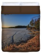 Sunrise On Millsite Lake Duvet Cover