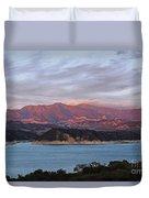 Sunset At Cachuma Lake Duvet Cover