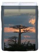 sunset in Madagascar Duvet Cover