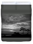 Sunset Over Colington Island On The Outer Banks Of North Carolina Duvet Cover
