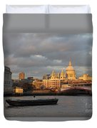 Sunset Over St Pauls Cathedral London Duvet Cover