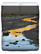 Sunset Reflected In Stream, Arizona Duvet Cover