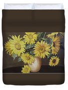 Sunshine And Sunflowers Duvet Cover