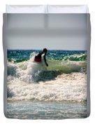Surfing In California Duvet Cover