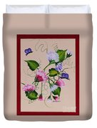 Sweet Peas And Butterflies Duvet Cover