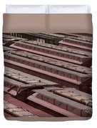 Switch Yard For Box Cars Duvet Cover