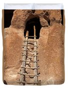 Talus House Front Door Bandelier National Monument Duvet Cover