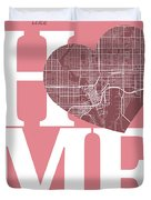 Tampa Street Map Home Heart - Tampa Florida Road Map In A Heart Duvet Cover