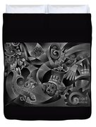 Tapestry Of Gods - Tlaloc Duvet Cover