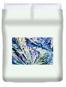 Tartaric Acid Crystals In Polarized Light Duvet Cover