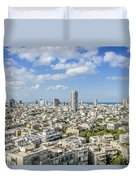 Tel Aviv Israel Elevated View Duvet Cover
