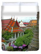 Temple Of The Dawn-wat Arun In Bangkok-thailand Duvet Cover