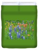Texas Wildflowers Duvet Cover