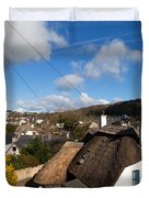 Thatched Cottages Near Dunmore Strand Duvet Cover