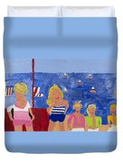 The Beach Girls Duvet Cover