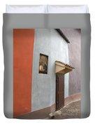 The Brown Door Duvet Cover