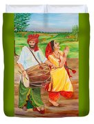 The Dhol Player Duvet Cover