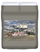 The Dixie Queen Paddle Steamer Duvet Cover