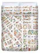 The Greenwich Village Map Duvet Cover