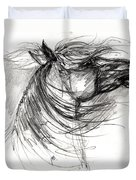 The Horse Sketch Duvet Cover