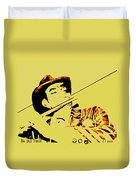 The Jazz Flutist Duvet Cover