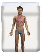 The Lungs Within The Body Pre-adolescent Duvet Cover