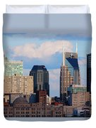 The Nashville Skyline As Viewed Duvet Cover