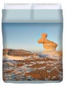 The Rabbit Stone Formation In White Desert Duvet Cover